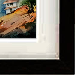 mountain view, 15 x 11 inch, jhalak mishra,15x11inch,rice paper,paintings,landscape paintings,paintings for living room,paintings for hotel,watercolor,GAL02563037151