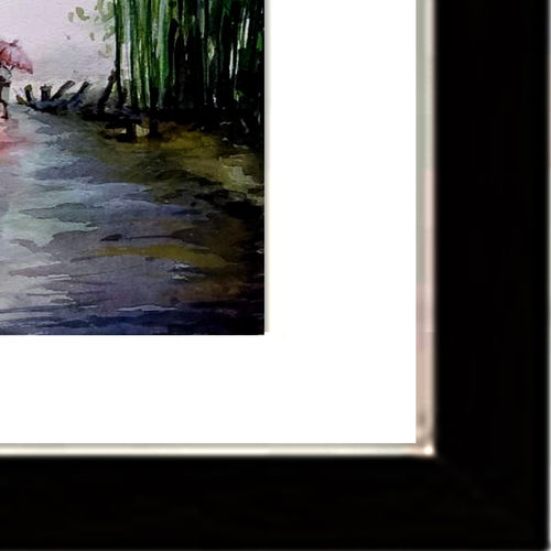rainy day, 15 x 21 inch, jhalak mishra,15x21inch,rice paper,paintings,landscape paintings,paintings for living room,paintings for office,paintings for hotel,watercolor,GAL02563037155
