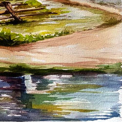 vikkage, 15 x 21 inch, jhalak mishra,15x21inch,rice paper,paintings,landscape paintings,paintings for living room,paintings for hotel,watercolor,GAL02563037157