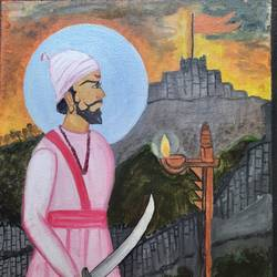 chatrapati shivaji raje, 12 x 16 inch, mahalaxmi kallarakal,12x16inch,canvas board,paintings,portrait paintings,paintings for dining room,paintings for living room,paintings for office,paintings for kids room,paintings for hotel,paintings for school,paintings for hospital,paintings for dining room,paintings for living room,paintings for office,paintings for kids room,paintings for hotel,paintings for school,paintings for hospital,acrylic color,ball point pen,GAL02554937194