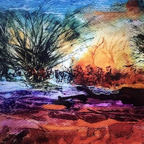 earth soul, 19 x 19 inch, manav verma,abstract paintings,paintings for living room,thick paper,ink color,19x19inch,GAL013763721