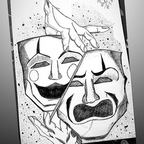 mask, 12 x 17 inch, prakrati  mathur,12x17inch,thick paper,drawings,fine art drawings,illustration drawings,portrait drawings,pen color,pencil color,paper,GAL02505837211