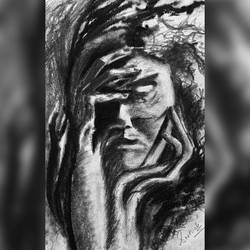 women , 6 x 8 inch, sarthak  sharma,6x8inch,paper,abstract drawings,abstract expressionism drawings,charcoal,GAL02024337217