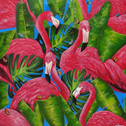 beauty of flamingo, 36 x 36 inch, salisalima ratha,36x36inch,canvas,figurative paintings,paintings for dining room,paintings for living room,paintings for bedroom,paintings for office,paintings for kids room,paintings for hotel,paintings for school,paintings for hospital,paintings for dining room,paintings for living room,paintings for bedroom,paintings for office,paintings for kids room,paintings for hotel,paintings for school,paintings for hospital,acrylic color,GAL02519837229