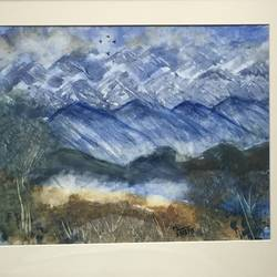 winter bliss, 12 x 12 inch, manav verma,landscape paintings,paintings for bedroom,thick paper,watercolor,12x12inch,GAL013763725