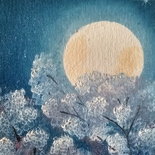 full moon, 8 x 10 inch, suchitra polamuri,8x10inch,canvas,paintings,landscape paintings,oil color,GAL02583637266