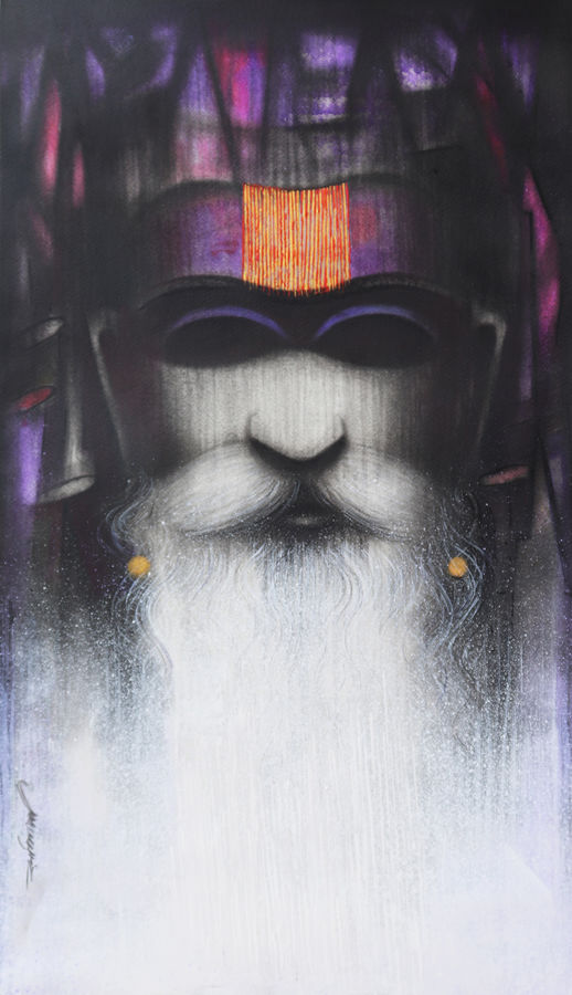 a sadhu's reminiscences, 16 x 26 inch, somnath bothe,16x26inch,fabriano sheet,figurative paintings,portrait paintings,impressionist paintings,realism paintings,paintings for dining room,paintings for living room,paintings for office,paintings for hotel,paintings for hospital,paintings for dining room,paintings for living room,paintings for office,paintings for hotel,paintings for hospital,acrylic color,charcoal,GAL073337293