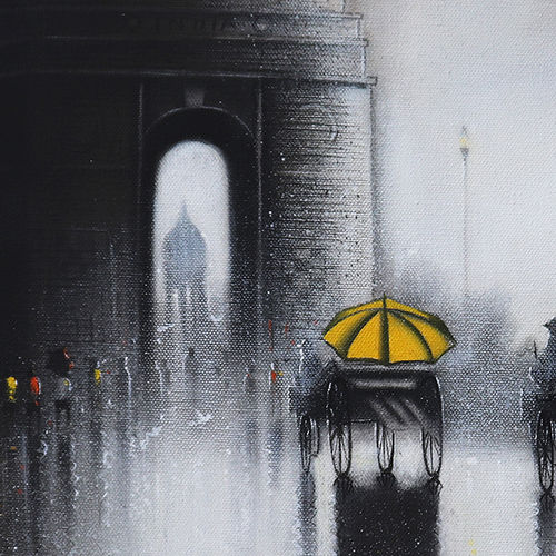 india gate, 18 x 15 inch, somnath bothe,18x15inch,canvas,paintings,cityscape paintings,realism paintings,horse paintings,paintings for dining room,paintings for living room,paintings for office,paintings for kids room,paintings for hotel,paintings for school,paintings for hospital,acrylic color,charcoal,GAL073337295