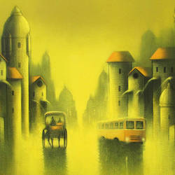 golden night, 36 x 30 inch, somnath bothe,36x30inch,canvas,paintings,cityscape paintings,realism paintings,street art,paintings for dining room,paintings for living room,paintings for bedroom,paintings for office,paintings for kids room,paintings for hotel,paintings for school,paintings for hospital,acrylic color,GAL073337299
