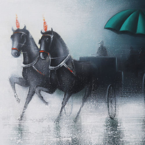 rhythmic  monsoon ride , 30 x 24 inch, somnath bothe,30x24inch,canvas,paintings,cityscape paintings,landscape paintings,realism paintings,street art,contemporary paintings,horse paintings,paintings for dining room,paintings for living room,paintings for bedroom,paintings for office,paintings for bathroom,paintings for kids room,paintings for school,acrylic color,charcoal,GAL073337301
