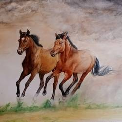 runnig horse, 16 x 11 inch, puja nag,16x11inch,brustro watercolor paper,paintings,horse paintings,paintings for dining room,paintings for living room,paintings for bedroom,paintings for office,paintings for hotel,paintings for school,paintings for dining room,paintings for living room,paintings for bedroom,paintings for office,paintings for hotel,paintings for school,watercolor,paper,GAL091937329
