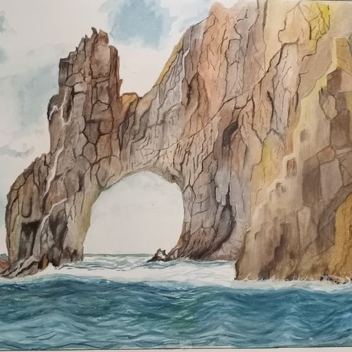 cabo, 16 x 11 inch, puja nag,16x11inch,brustro watercolor paper,paintings,landscape paintings,paintings for dining room,paintings for living room,paintings for bedroom,paintings for bathroom,paintings for hotel,watercolor,GAL091937333