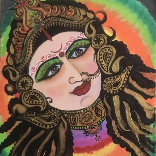 maa durga modern background, 18 x 24 inch, pragati c,18x24inch,canvas,paintings,figurative paintings,religious paintings,paintings for living room,paintings for school,paintings for hospital,acrylic color,metal,GAL02554637373
