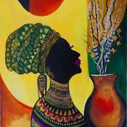 african lady, 18 x 24 inch, pragati c,18x24inch,canvas,paintings,figurative paintings,folk art paintings,modern art paintings,portrait paintings,abstract expressionism paintings,contemporary paintings,paintings for dining room,paintings for living room,paintings for bedroom,paintings for office,paintings for bathroom,paintings for hotel,paintings for kitchen,paintings for school,paintings for hospital,acrylic color,metal,GAL02554637375
