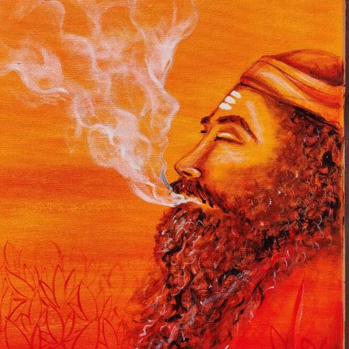 aghori, 14 x 24 inch, marisha  narula,14x24inch,canvas,paintings,abstract paintings,religious paintings,expressionism paintings,street art,contemporary paintings,paintings for dining room,paintings for living room,paintings for hotel,acrylic color,GAL02588737396