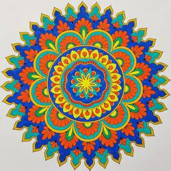 mandala art, 12 x 12 inch, madhupriya  shankar,12x12inch,fabriano sheet,flower paintings,paintings for dining room,paintings for living room,paintings for bedroom,paintings for office,paintings for hotel,paintings for dining room,paintings for living room,paintings for bedroom,paintings for office,paintings for hotel,acrylic color,GAL02450837399