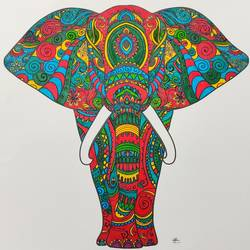 mandala art, 12 x 12 inch, madhupriya  shankar,12x12inch,fabriano sheet,paintings,animal paintings,paintings for dining room,paintings for living room,paintings for office,paintings for kids room,pen color,GAL02450837403