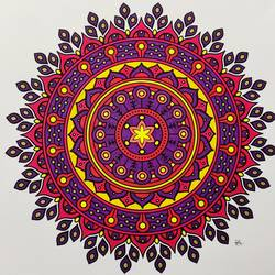mandala art, 12 x 12 inch, madhupriya  shankar,12x12inch,fabriano sheet,paintings,modern art paintings,paintings for dining room,paintings for living room,paintings for bedroom,paintings for office,paintings for kids room,paintings for hotel,pen color,GAL02450837405