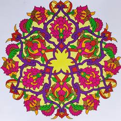 mandala art, 11 x 11 inch, madhupriya  shankar,11x11inch,paper,paintings,flower paintings,paintings for dining room,paintings for living room,paintings for bedroom,paintings for office,paintings for kids room,paintings for hotel,poster color,GAL02450837406