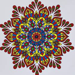 mandala art, 8 x 8 inch, madhupriya  shankar,8x8inch,paper,paintings,modern art paintings,paintings for dining room,paintings for living room,paintings for bedroom,paintings for office,paintings for kids room,paintings for hotel,poster color,GAL02450837407