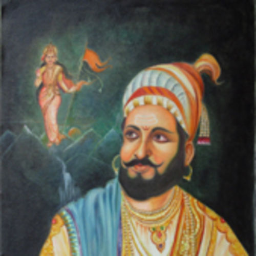 shreemant chatrapati shivaji maharaj, 27 x 34 inch, anand vedpathak,27x34inch,canvas,paintings,figurative paintings,paintings for living room,paintings for kids room,paintings for school,paintings for hospital,oil color,GAL02513837408