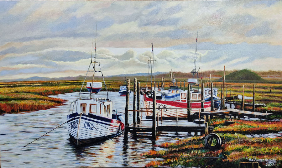 boats, 30 x 18 inch, yaz ahmed ansari,30x18inch,canvas board,landscape paintings,nature paintings | scenery paintings,paintings for dining room,paintings for living room,paintings for bedroom,paintings for office,paintings for hotel,paintings for dining room,paintings for living room,paintings for bedroom,paintings for office,paintings for hotel,oil color,GAL0426137418