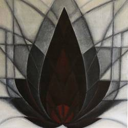 padma - the lotus, 14 x 18 inch, jigisha  dwivedi,abstract paintings,paintings for living room,canvas board,mixed media,14x18inch,GAL08763742