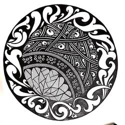 mandala art, 8 x 12 inch, sailaja  balgeri,8x12inch,thick paper,drawings,fine art drawings,paintings for living room,paintings for office,paintings for hotel,pen color,GAL01586237425