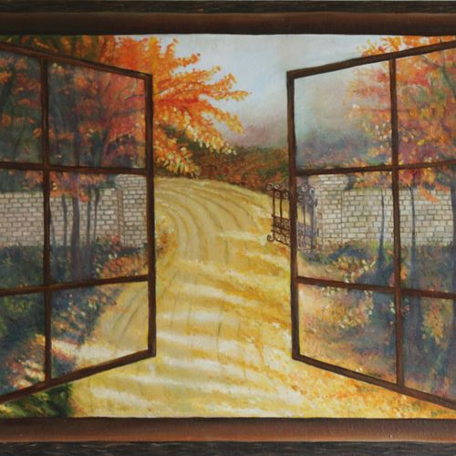the path, 24 x 18 inch, jigisha  dwivedi,paintings for living room,landscape paintings,canvas board,oil,24x18inch,GAL08763743