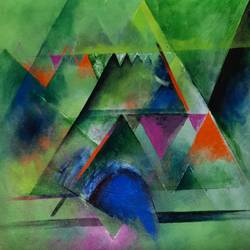 geometric forms, 12 x 12 inch, swastik jawalekar,12x12inch,canvas,paintings,abstract paintings,acrylic color,GAL02600137468