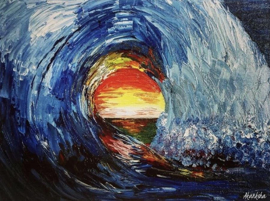 sunset peeping through a wave , 16 x 12 inch, akanksha mishra,16x12inch,canvas board,abstract paintings,landscape paintings,nature paintings | scenery paintings,paintings for dining room,paintings for living room,paintings for bedroom,paintings for bathroom,paintings for kids room,paintings for hotel,paintings for school,paintings for hospital,paintings for dining room,paintings for living room,paintings for bedroom,paintings for bathroom,paintings for kids room,paintings for hotel,paintings for school,paintings for hospital,oil color,GAL02601937476
