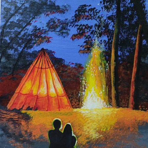 couple in love , 18 x 12 inch, samata kela,18x12inch,canvas,paintings,landscape paintings,nature paintings | scenery paintings,art deco paintings,contemporary paintings,love paintings,paintings for dining room,paintings for living room,paintings for bedroom,paintings for office,paintings for hotel,acrylic color,GAL02230737497