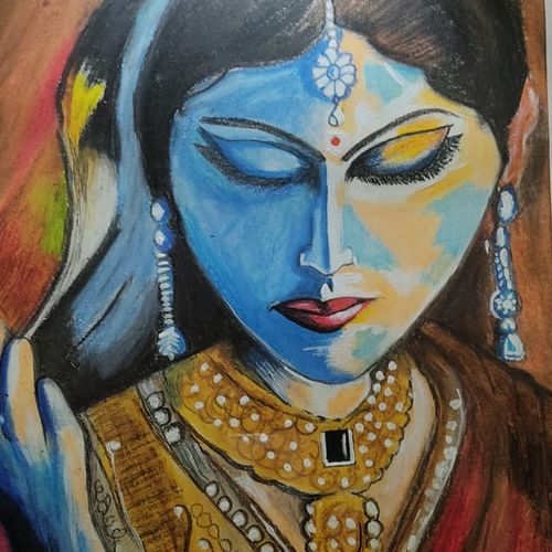 art deco , 14 x 18 inch, samata kela,14x18inch,paper,paintings,figurative paintings,modern art paintings,contemporary paintings,paintings for dining room,paintings for living room,paintings for bedroom,paintings for hotel,mixed media,pastel color,GAL02230737498