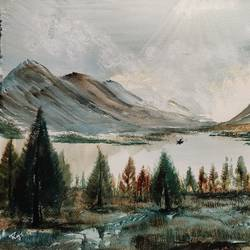 riverfront and mountain, 17 x 12 inch, raju singh,17x12inch,canson paper,paintings,landscape paintings,modern art paintings,nature paintings | scenery paintings,impressionist paintings,surrealism paintings,paintings for dining room,paintings for living room,paintings for bedroom,paintings for office,paintings for kids room,paintings for hotel,paintings for kitchen,paintings for school,paintings for hospital,watercolor,GAL02410037522