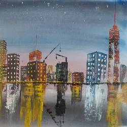 city lights, 24 x 18 inch, raju singh,24x18inch,canson paper,paintings,cityscape paintings,modern art paintings,impressionist paintings,street art,surrealism paintings,contemporary paintings,paintings for dining room,paintings for living room,paintings for bedroom,paintings for office,paintings for kids room,paintings for hotel,paintings for kitchen,paintings for school,paintings for hospital,watercolor,GAL02410037523