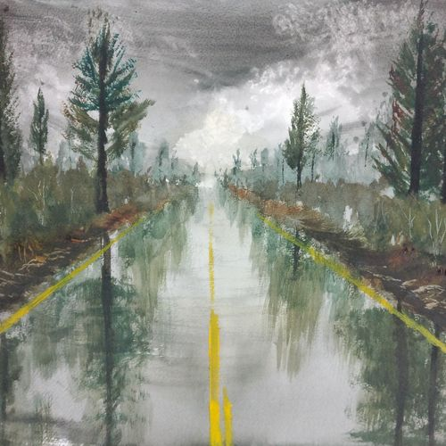 rain and highway, 17 x 12 inch, raju singh,17x12inch,canson paper,paintings,abstract paintings,landscape paintings,nature paintings | scenery paintings,impressionist paintings,paintings for dining room,paintings for living room,paintings for bedroom,paintings for office,paintings for kids room,paintings for hotel,paintings for kitchen,paintings for school,paintings for hospital,watercolor,GAL02410037526