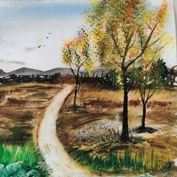 roads through rural , 17 x 12 inch, raju singh,17x12inch,canson paper,paintings,nature paintings | scenery paintings,impressionist paintings,paintings for dining room,paintings for living room,paintings for bedroom,paintings for office,paintings for kids room,paintings for hotel,paintings for kitchen,paintings for school,paintings for hospital,watercolor,GAL02410037535
