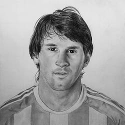 lionel messi pencil drawing, 12 x 13 inch, abdul majeed,12x13inch,fabriano sheet,drawings,photorealism drawings,portrait drawings,realism drawings,charcoal,graphite pencil,paper,GAL02606637549
