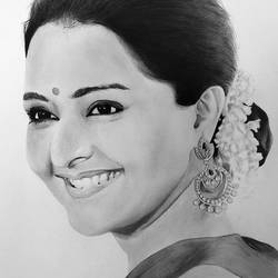 manju warrier ( malayalam actress ), 11 x 12 inch, abdul majeed,11x12inch,fabriano sheet,drawings,photorealism drawings,portrait drawings,realism drawings,charcoal,graphite pencil,paper,GAL02606637550