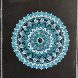 mandala art, 36 x 28 inch, rutuja dambal,36x28inch,canvas,drawings,paintings for living room,abstract drawings,paintings for living room,pen color,GAL02606737560