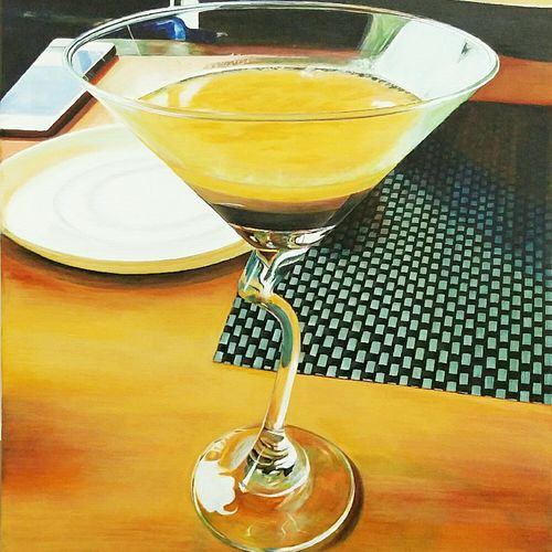 indulgence, 18 x 24 inch, isha agarwal,photorealism paintings,paintings for dining room,canvas,acrylic color,18x24inch,GAL013853757