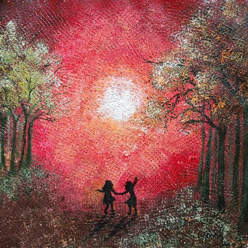 childhood bestie, 12 x 12 inch, esther sandhya a,12x12inch,canvas,paintings,abstract paintings,landscape paintings,nature paintings | scenery paintings,art deco paintings,contemporary paintings,paintings for dining room,paintings for living room,paintings for bedroom,paintings for office,paintings for bathroom,paintings for kids room,paintings for hotel,paintings for kitchen,paintings for school,paintings for hospital,acrylic color,GAL0166337572