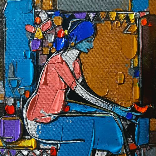 untitiled-2, 12 x 10 inch, girish adannavar,12x10inch,canvas,folk art paintings,acrylic color,GAL02608337575
