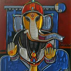 untitiled-3, 12 x 10 inch, girish adannavar,12x10inch,canvas,folk art paintings,acrylic color,GAL02608337576