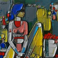 untitled-8, 12 x 10 inch, girish adannavar,12x10inch,canvas,folk art paintings,acrylic color,GAL02608337581