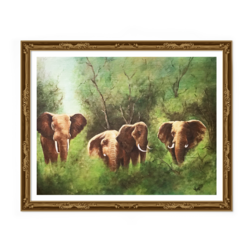 elephant hand painted acrylic painting , 14 x 18 inch, yogita kolge,14x18inch,canvas board,paintings,wildlife paintings,nature paintings | scenery paintings,paintings for living room,paintings for living room,acrylic color,GAL02323837584