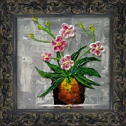 flower painting, 15 x 15 inch, rishabh mishra,15x15inch,canvas,paintings,flower paintings,paintings for dining room,paintings for living room,paintings for bedroom,paintings for office,paintings for bathroom,paintings for kids room,paintings for hotel,paintings for school,paintings for hospital,acrylic color,fabric,GAL02608037600