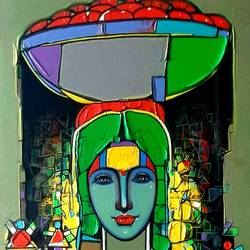 untitled-14, 16 x 46 inch, girish adannavar,16x46inch,canvas,expressionism paintings,acrylic color,GAL02608337608