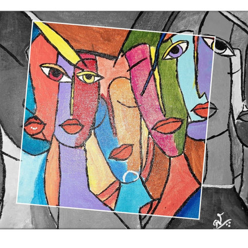 urban expression, 10 x 12 inch, gayathri vignesh,10x12inch,canvas,paintings,abstract paintings,modern art paintings,cubism paintings,paintings for dining room,paintings for living room,paintings for bedroom,paintings for office,paintings for hotel,acrylic color,GAL02612137612