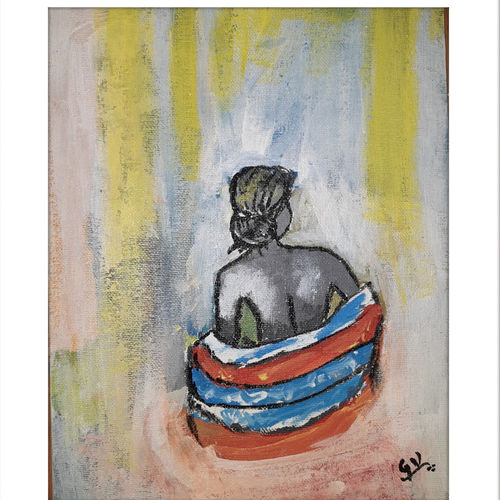 lonely women, 10 x 12 inch, gayathri vignesh,10x12inch,canvas,paintings,abstract paintings,paintings for living room,paintings for bedroom,paintings for bathroom,paintings for hotel,paintings for living room,paintings for bedroom,paintings for bathroom,paintings for hotel,acrylic color,GAL02612137616